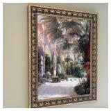 Framed Art Print Garden Scene
