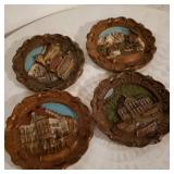 Vintage Carved Wood Wall Decorations
