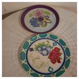 Vintage Large Floral Plates