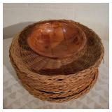 Vintage Wooden Baskets and Bowl