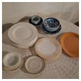 Lot of Several Glass Plates and Bowls