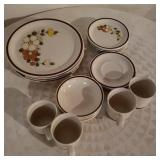 Lot of Glass Plates and Coffee Cups