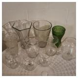 Lot of 10 Glass Vases