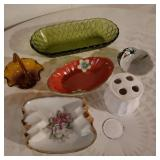 Lot of Vintage Counter Glass Bowls