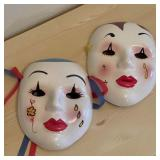 Ceramic Decorative Masks