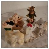 Lot of Decorative Animals and girl Figure