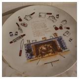 Vintage Kitchen Prayer Decorative Plate