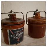 Vintage Clay Cheese Pots