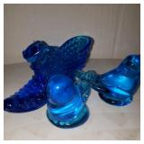 Glass Blue Birds and Shoe