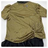 Ladies Gold & Black Top w/Black Dress
