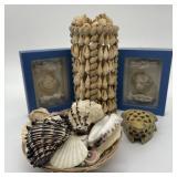 Sea Shells, Sea Shell WindChime, Stone Frog in