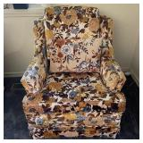 Vintage Floral Fabric Chair