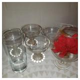 Lot of 6 Glass Cups
