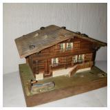 Vintage Reuge Wooden House Music Box