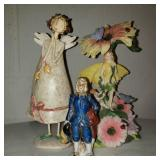 Ceramic Flower Decorations and Person