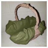 Vintage Ceramic Napkin Basket 1995