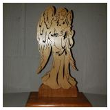 Vintage Carved Wooden Angel