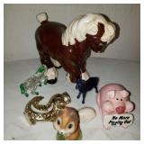Lot of Glass Horses and Animals