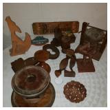 Large lot of Wood Art and Decoratives