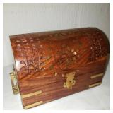 Vintage Small Wooden Chest