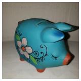 Vintage Blue Piggy Bank
