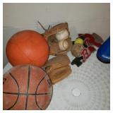 Lot of Sports, Baseball, and Basketball Items
