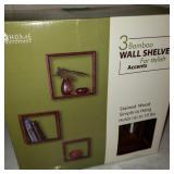Set of 3 Bamboo Wall Shelves