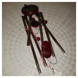 Vintage Red and Grey Windchime