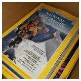 Box of Vintage National Geographic Magazine