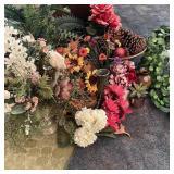 Silk Flowers/Ferns/Baskets/Vases in Box