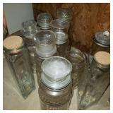 Lot of Antique Nut Jars