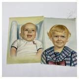 Vintage Photos on Satin Type Fabric