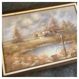 Vintage Oil Painting 24 x 36