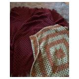 2 Large Granny Square Blankets