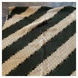 Crochet Blanket, Square, Cream & Green