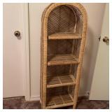 Wicker Floor Shelf