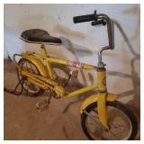 Vintage Sears Yellow Children Bicycle