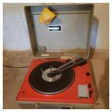 Vintage GE Red Record Player