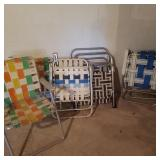 Lot of 7 Vintage Alluminum Lawn Chairs