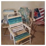 Lot of 4 Vintage Lawn Chairs