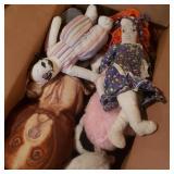 Box of Vintage Stuffed Toys