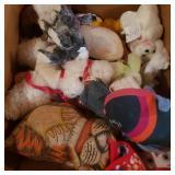Large Box of Vintage Stuffed Animals