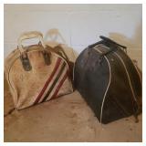 2 Vintage Bowling Ball Bags