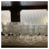 Glassware in Cabinets Over Bar
