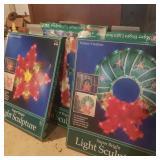 Lot of 3 Christmas Light Sculptures