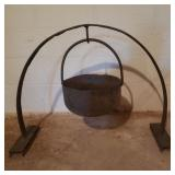 Antique Cast Iron Hanging Pot