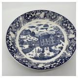 Vintage Blue & White Serving Bowl Japan