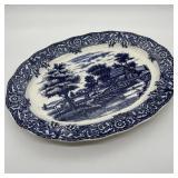 Blue & White Platter, Damaged