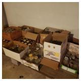 Contents of Shelf Boxes of Mason Jars