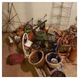 Large Garden Pots and Supplies Lot